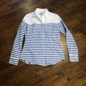 Banana Republic Striped Oxford Button Down Shirt